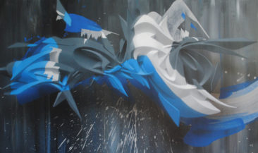 Graffiti canvas: Cliquey, 82x136cm, mixed media on canvas, 2011, SOLD