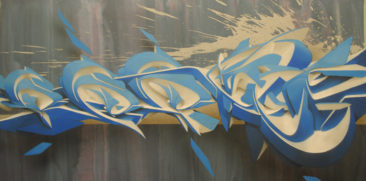 Jericho, 50x100c, mixed media on canvas, 2011, SOLD