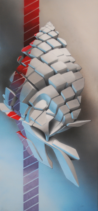 Side Pine, 100x40 cm, tecnica mista su tela, 2011, SOLD