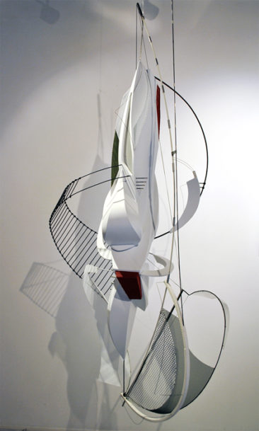 Aligner, PVC, steel, aluminum, copper, waxed thread, 135x60x60cm, 2015