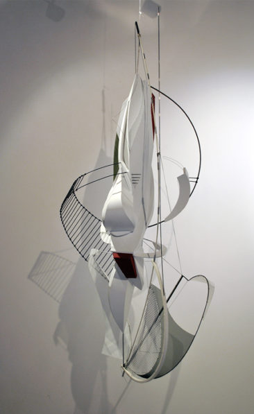 Graffiti sculpture: Aligner, PVC, steel, aluminum, copper, waxed thread, 135x60x60cm, 2015