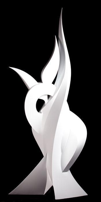 Venus, 250x80x80cm, scultura fatta a mano in PVC, 2013