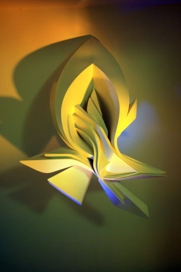 Graffiti sculpture: Glimpse, 100x70x45cm, PVC, 2009