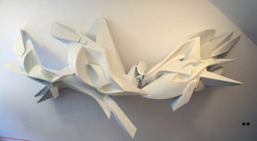 Graffiti sculpture: Twister, 3,5x1,6x0,7 m, PVC, 2009