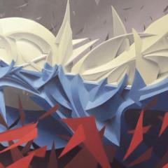 Twentyfour, 200x100 cm, mixed media on canvas, 2016