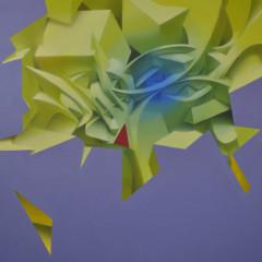 Sulfur, mixed media on canvas, 100x150 cm, 2016