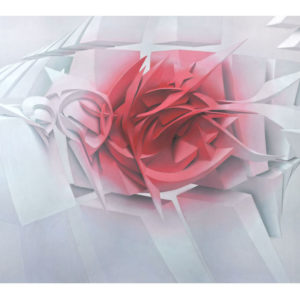 Blushing digital print on paper