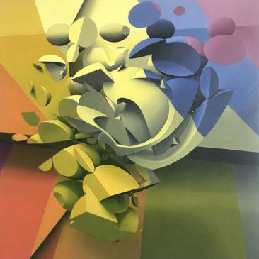 Circus, 120x120 cm, olio su tela, 2018