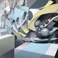 Sugar High, 100x100cm, olio su tela, 2018