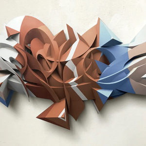 Float digital print on shaped aluminum