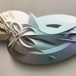 Stampa digitale Neptune su alluminio sagomato