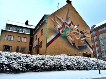 Graffiti wall: No Limit festival, Borås (S), 2014
