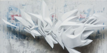 Graffiti canvas: Immediate Access, 50x100cm, mixed media on canvas, 2013, SOLD