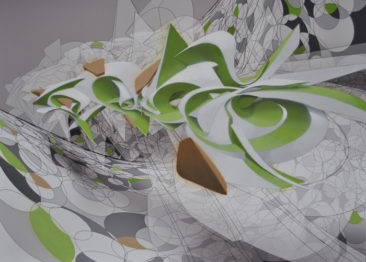 Side Up, 50x100cm, mixed media on canvas, 2012, SOLD