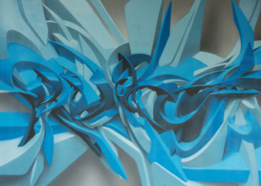 Graffiti canvas: Unreliable Ink, 130x180cm, mixed media on canvas, 2012, SOLD