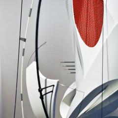 Aligner, PVC, steel, aluminum, copper, waxed thread, 135x60x60cm, 2015, detail
