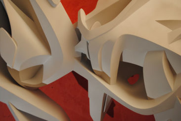 Graffiti sculpture: Confidence, 120x69x17cm, PVC, 2011, detail