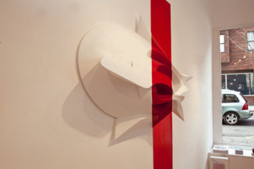 Graffiti sculpture: Soul Tracks, 100x40x140cm, PVC, 2011