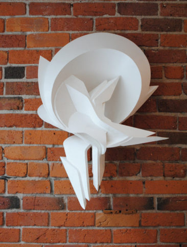 Graffiti sculpture: Surrender, 80x56x25cm, PVC, 2010