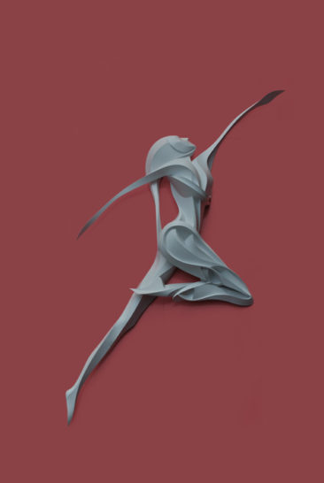 Dancer, assembled, 400x250x40c, PVC, 2014