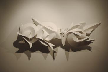 Graffiti sculpture: Fibonacci, 115x51x25cm, PVC, 2010