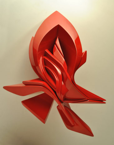 Graffiti sculpture: Small Glimpse, 35x25x18cm, plastic, 2012
