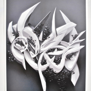 Grapevine digital print on paper