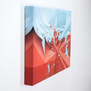 Appeel digital print on canvas