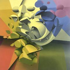Circus, 120x120 cm, oil on canvas, 2018