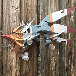 Bricks print on shaped aluminum – AR limited edition
